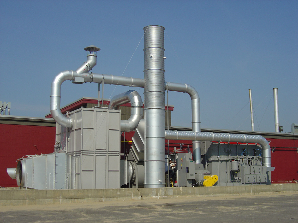 A concentrator can take exhaust streams at or near ambient temperature and concentrate them so that the airflow actually sent to the oxidizer is reduced by a factor of eight to 20.