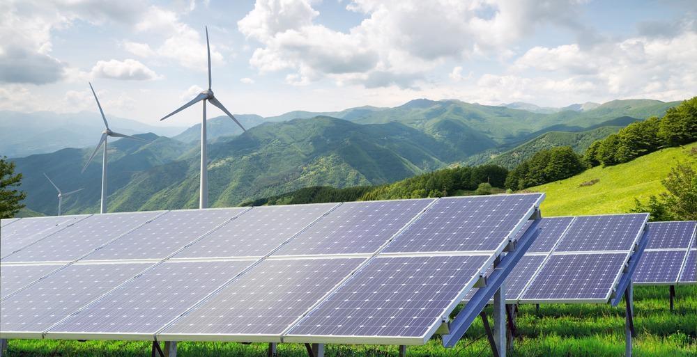 solar power, wind power