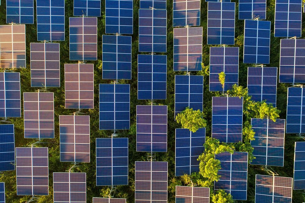 solar cell view from above