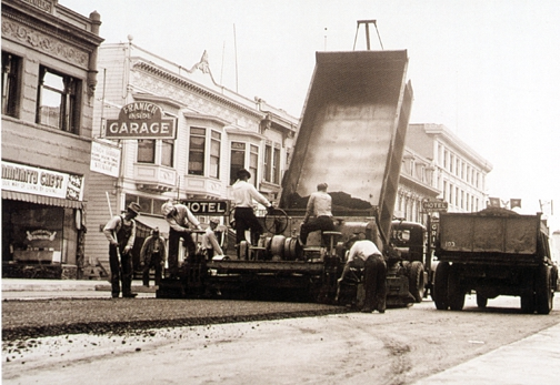 Granite Construction repaving Main St.