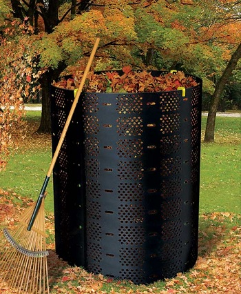 A typical compost bin, used for home-produced compost.