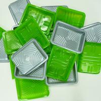 Plantic Eco Plastic metal packaging trays.