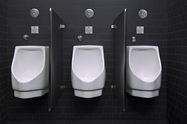 Water-free urinals installed at the Walt Disney Concert Hall in Los Angeles, CA