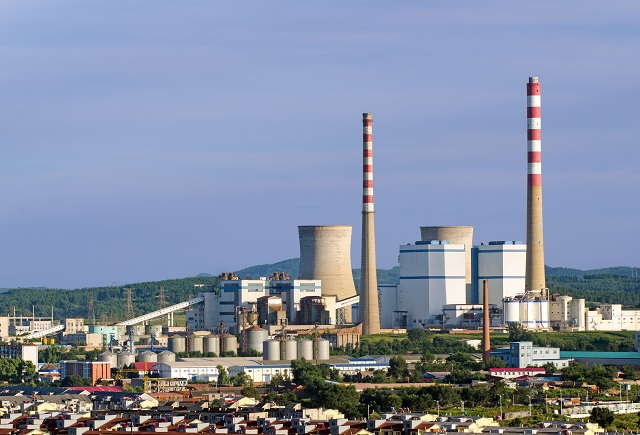 Coal fired power station in Liaoyuan, Jilin, China. Coal remains the primary source of electrical power in China​.