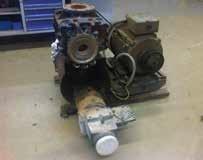 Burnt compressor system after sparking in the blower