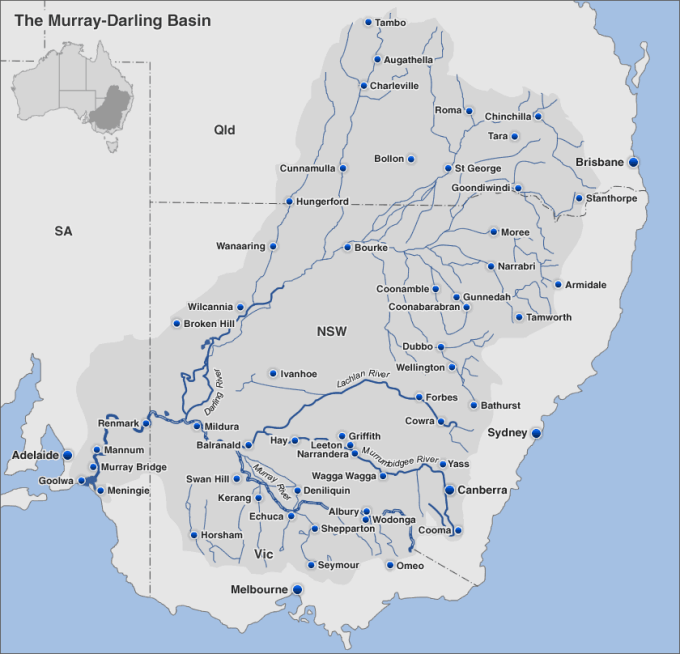 The Murray-Darling Basin covers 14 % of Australia. It is Australia's most important environmental and agricultural asset.