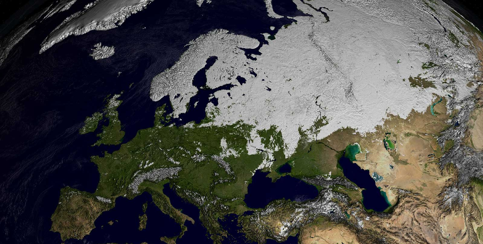 A reduction in aerosol production in Europe has led to fewer extremely cold days
