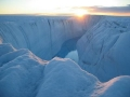 First Observations of Surface Meltwater Cutting Through Ice Sheet