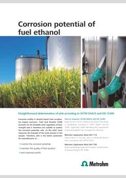 Measuring Real Corrosion Potential of Fuel Ethanol