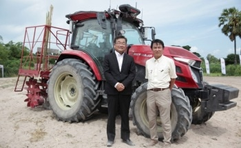 Yanmar Demonstrates Autonomous Tractors Using Precision Positioning Technology in Thailand