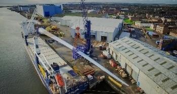 World's Longest Wind Turbine Blade Arrives on the UK's North-East Coast