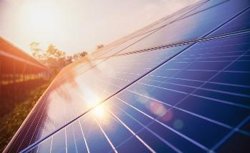 Large Scale Solar Parks can Have a Cooling Effect on the Surrounding Land
