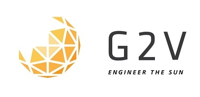 G2V Optics logo.