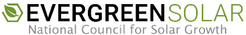 Evergreen Solar logo.